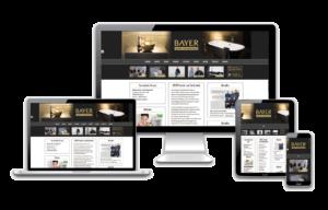 Neue Homepage Referenz Sanitär Bayer