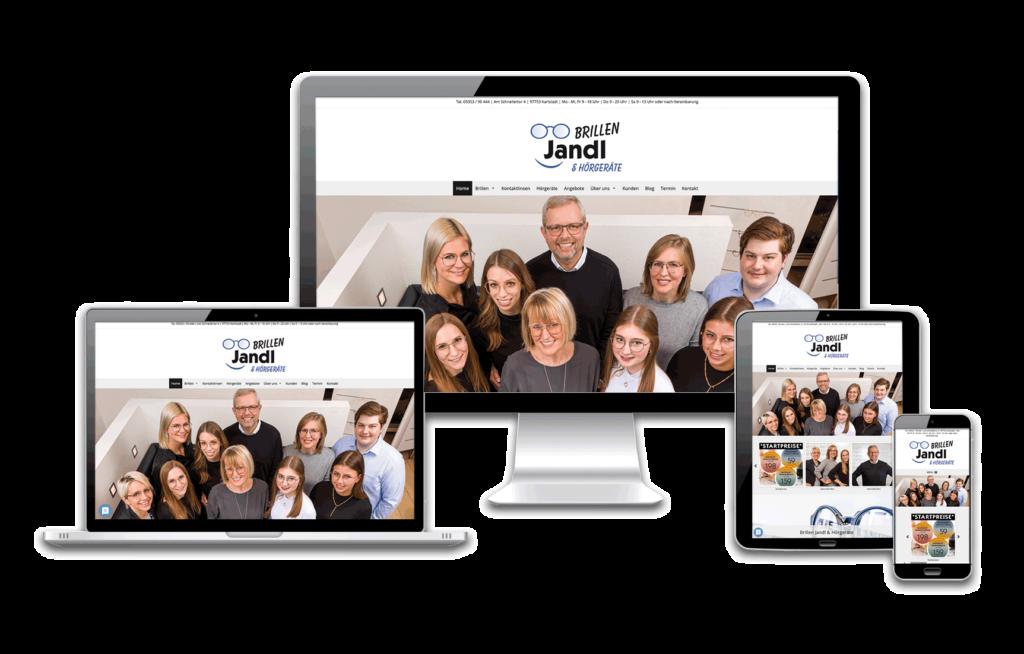 Neue Homepage Referenz BrillenJandl