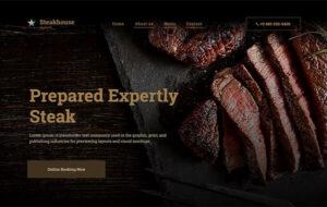 Neue Homepage Designvorschlag Steakhouse