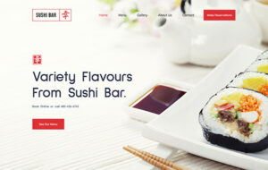 Neue Homepage Designvorschlag SushiBar